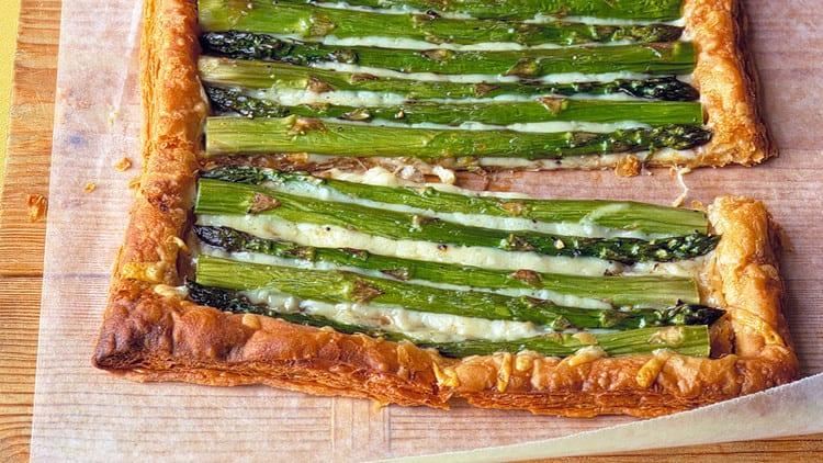 Asparagus tart easy appetizer recipes
