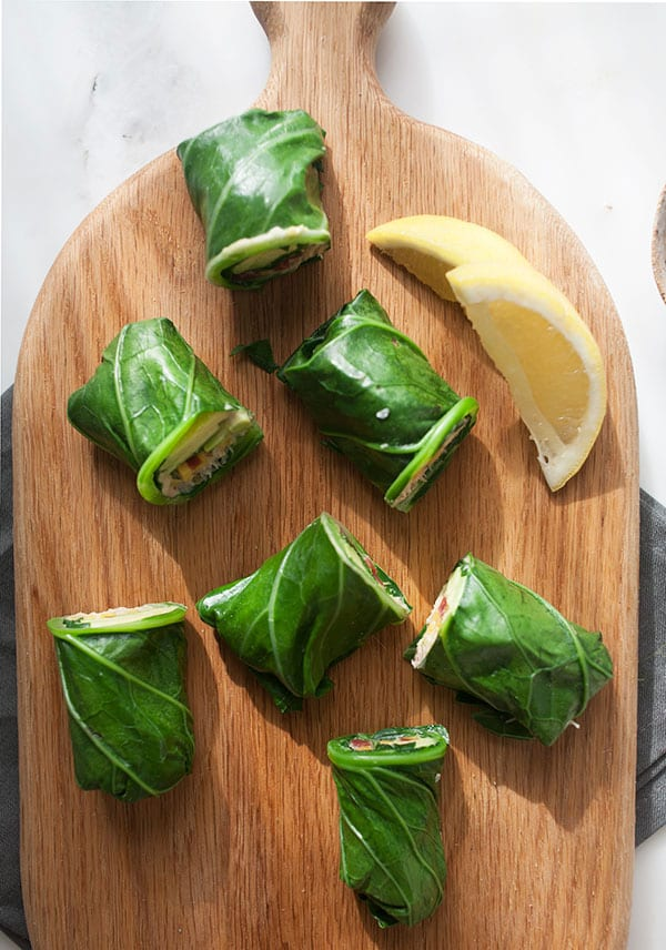 easy appetizer recipes collard wraps