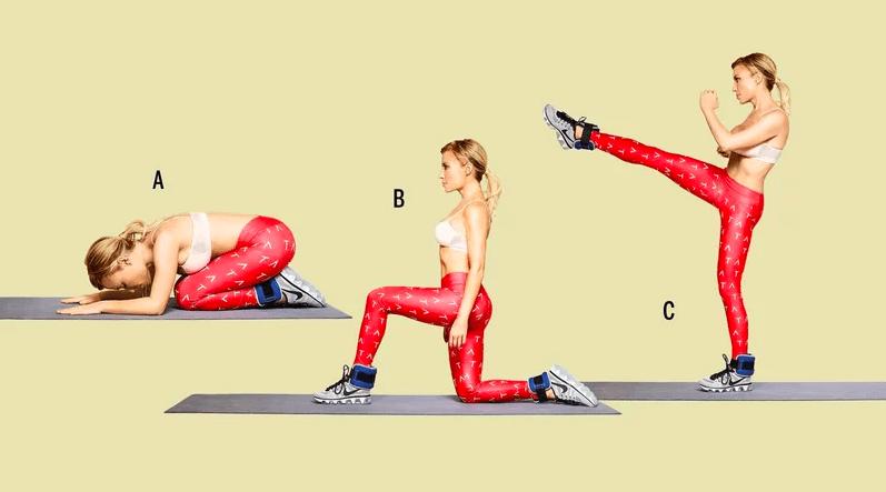 Leg Exercises Step Up Kick