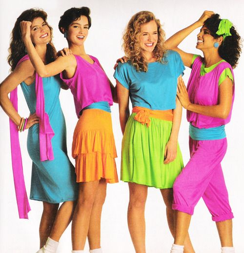 neon 80s outfit