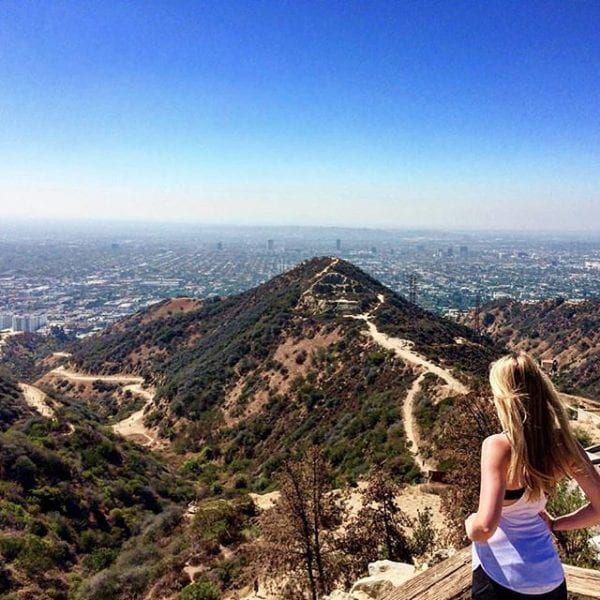 hiking in Los Angeles Runyon Canyon