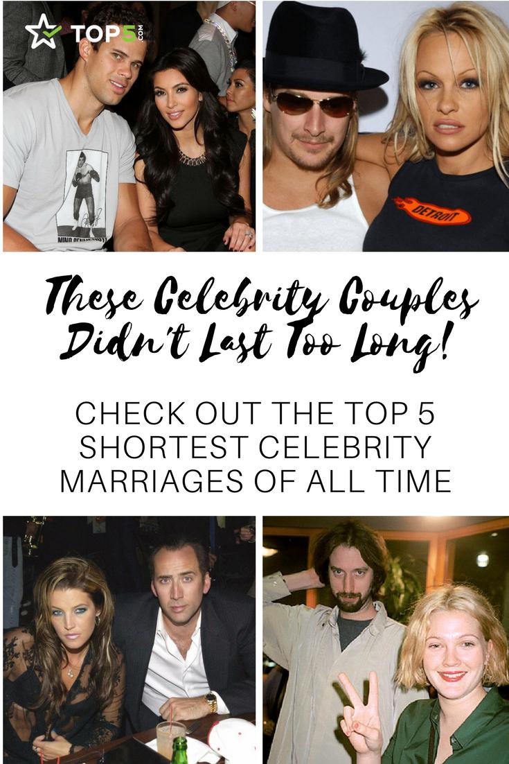 shortest celebrity marriages