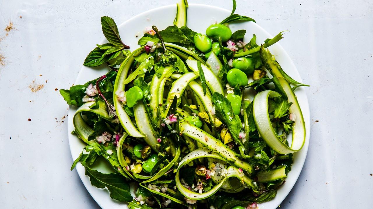 Fava Bean Vegetarian Salad