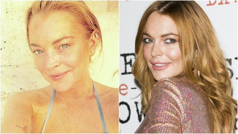 Celebrities Without Makeup Lindsay Lohan