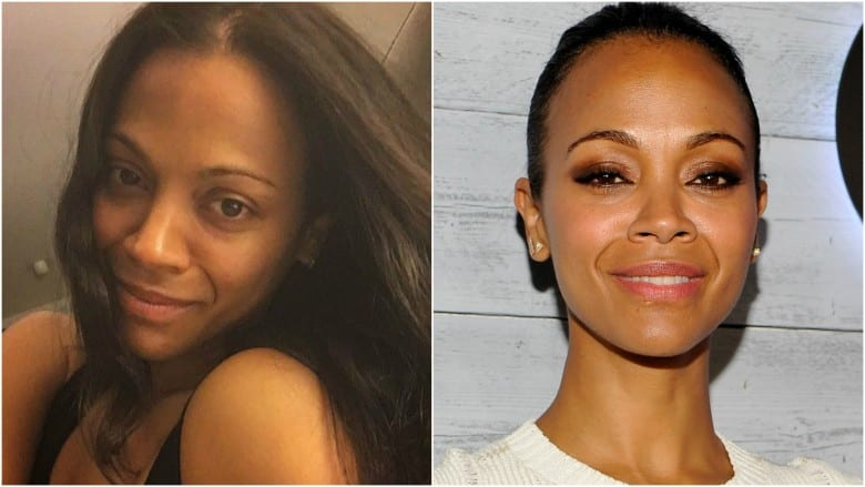 Celebrities Without Makeup Zoe Saldana