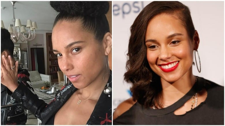celebrities without makeup Alicia Keys
