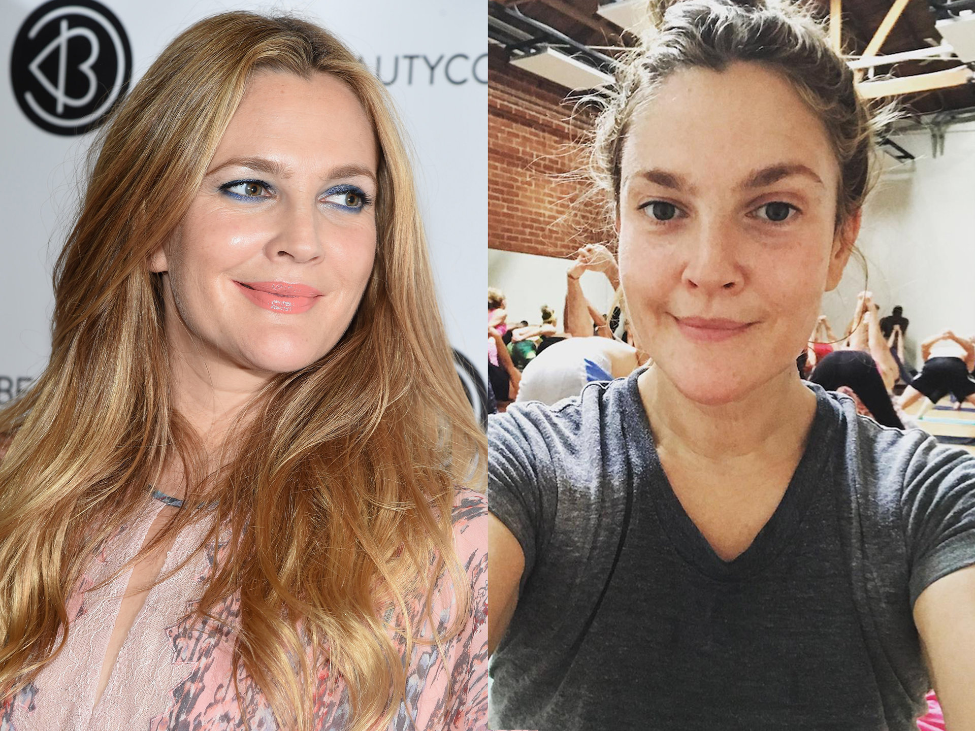 Celebrities Without Makeup Drew Barrymore