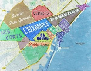 Digital nomad in Barcelona - map