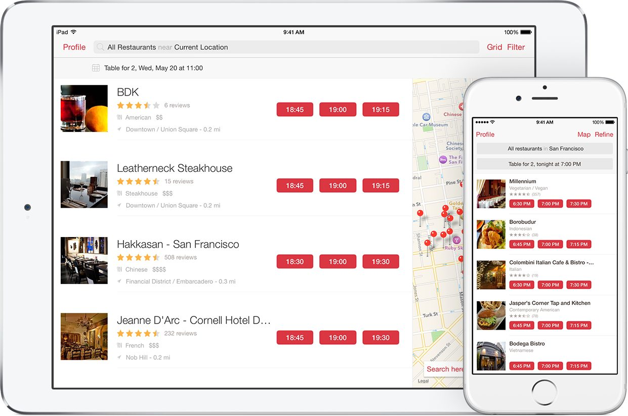 Food Apps Open Table
