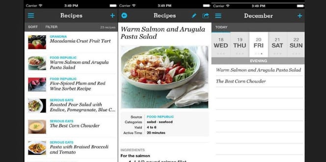 pepperplate food app