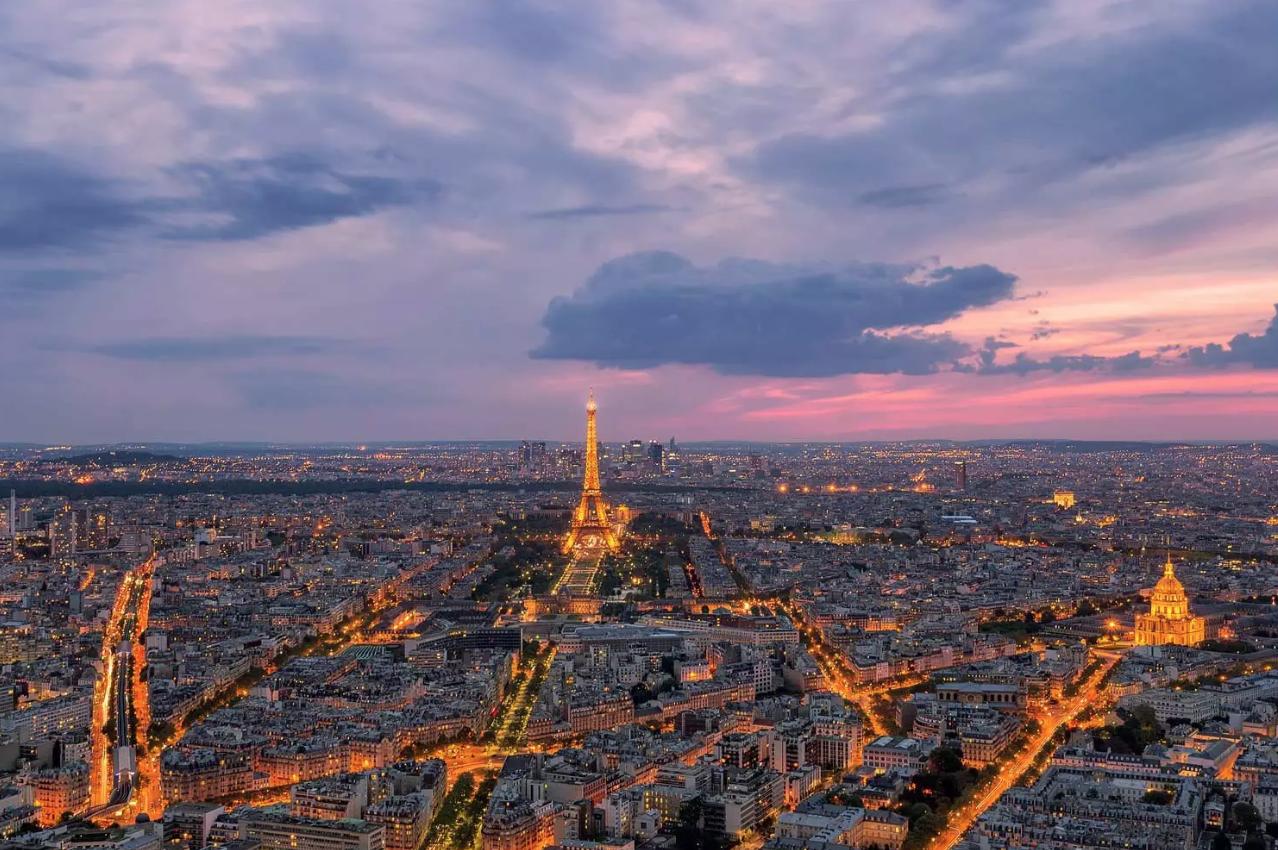 Paris sunset travel photograph