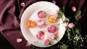 Spring wedding flower desserts