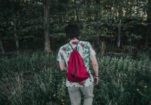 drawstring bag Music Festival survival kit