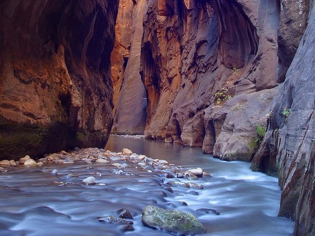 best hikes in the US Zion The Narrows