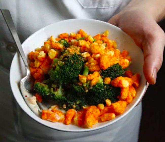 Bizarre Food Combinations Cheetos Broccoli