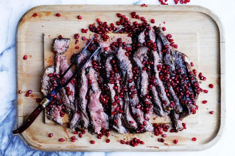 Bizarre Food Combinations Steak Pomegranate