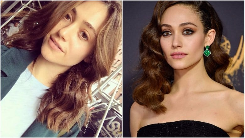 celebrities without makeup Emmy Rossum