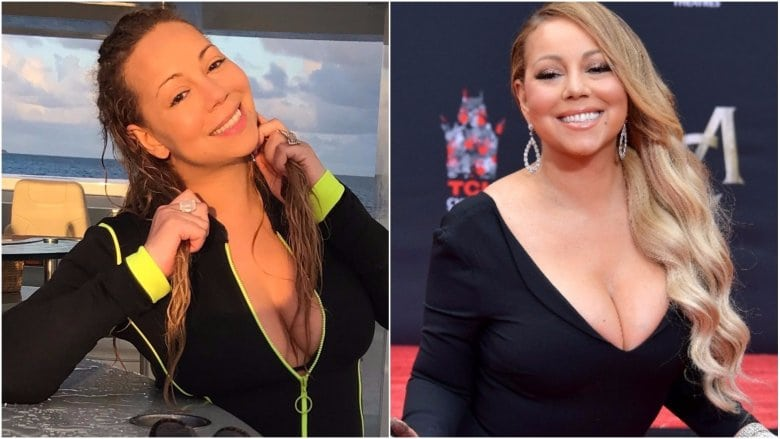 celebrities without makeup Mariah Carey