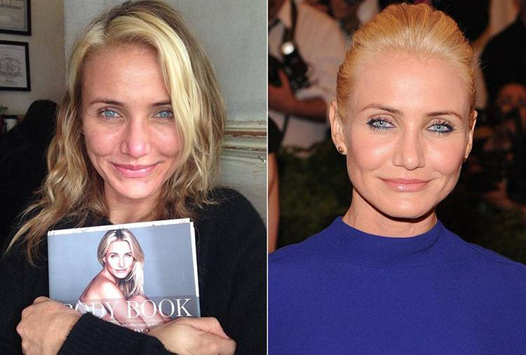 celebrities without makeup Cameron Diaz