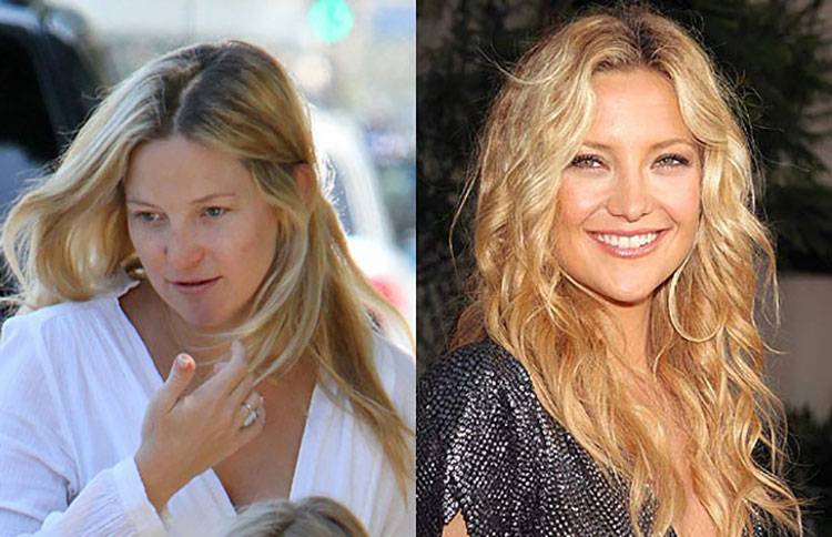 celebrities without makeup Kate Hudson