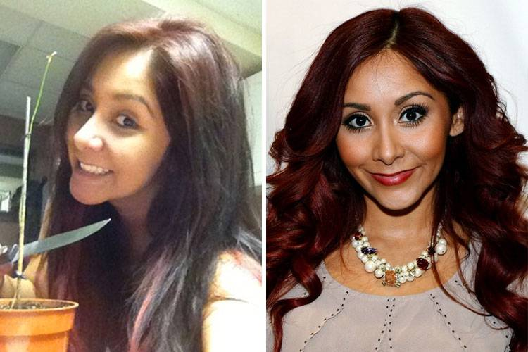 celebrities without makeup Snooki