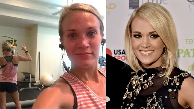 Celebrities Without Makeup Carrie Underwood