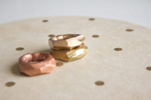 DIY Jewelry Clay Faceted Gold Rings