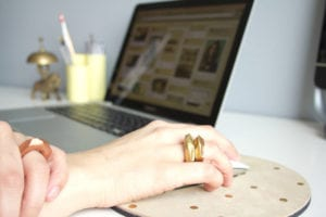 DIY jewelry faceted gold rings