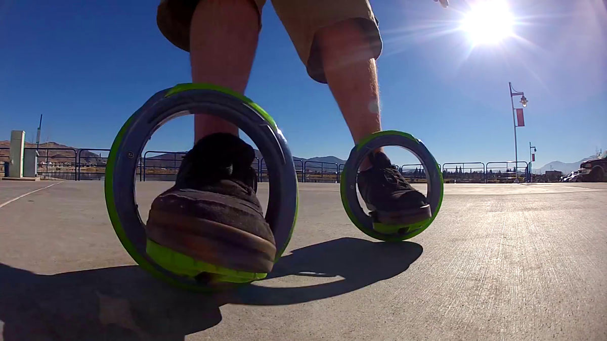 coolest inventions The Sidewinding Circular Skates