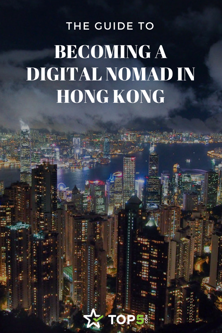 digital nomad in Hong Kong - Pinterest