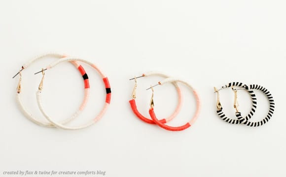DIY jewelry hoop earrings