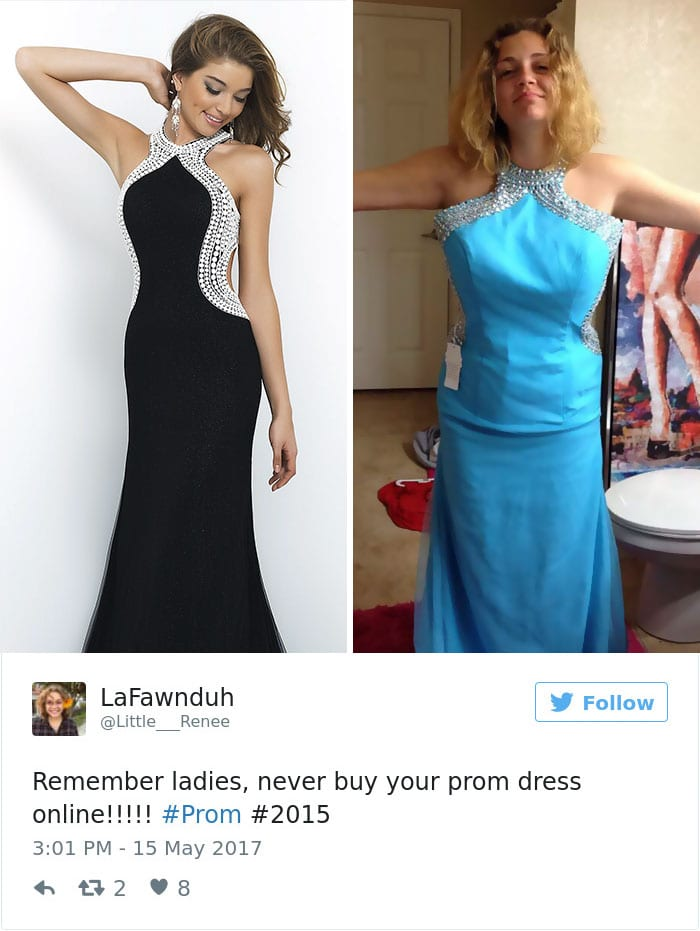 internet prom dress blue