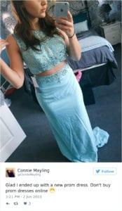 internet prom dress light blue