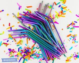 plastic pollution - metal straws