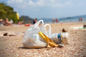 plastic pollution - plastic bag