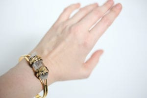DIY quartz bangle cuff bracelet