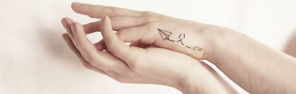 small tattoos - paper airplane