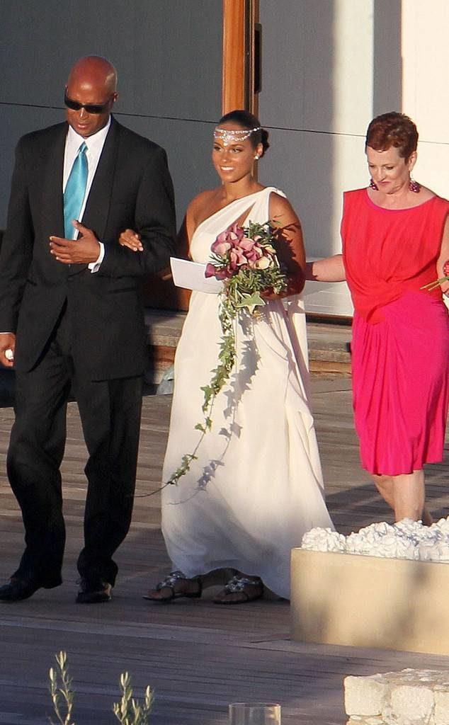 wedding dress - Alicia Keys