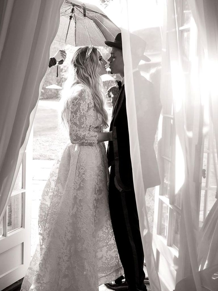 wedding dress - Ashlee Simpson