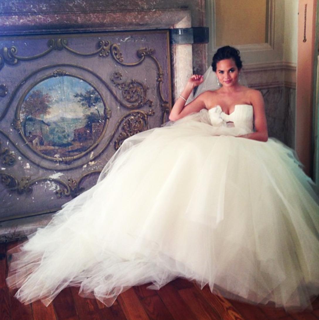 wedding dress - Chrissy Teigen