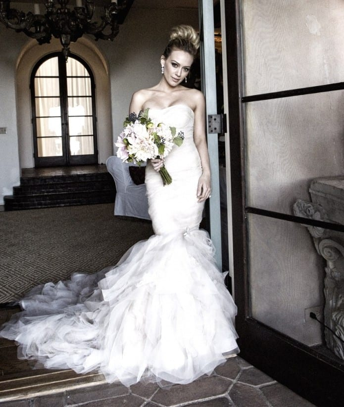 wedding dress - Hilary Duff