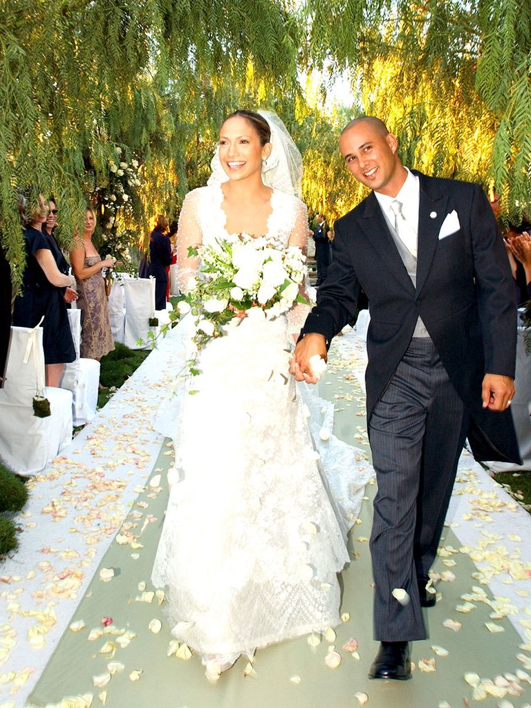 wedding dress -Jennifer Lopez