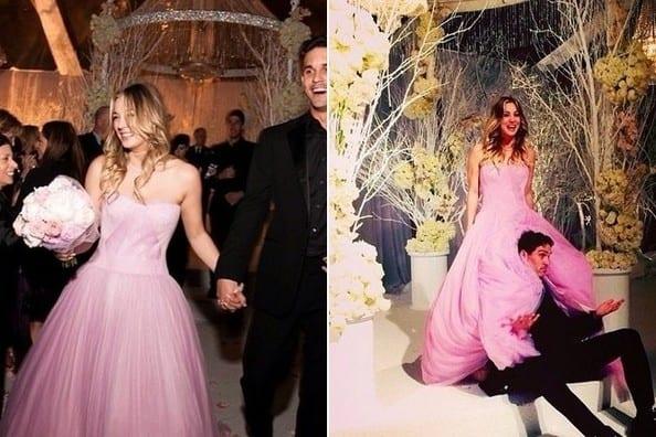 wedding dress - Kaley Cuoco