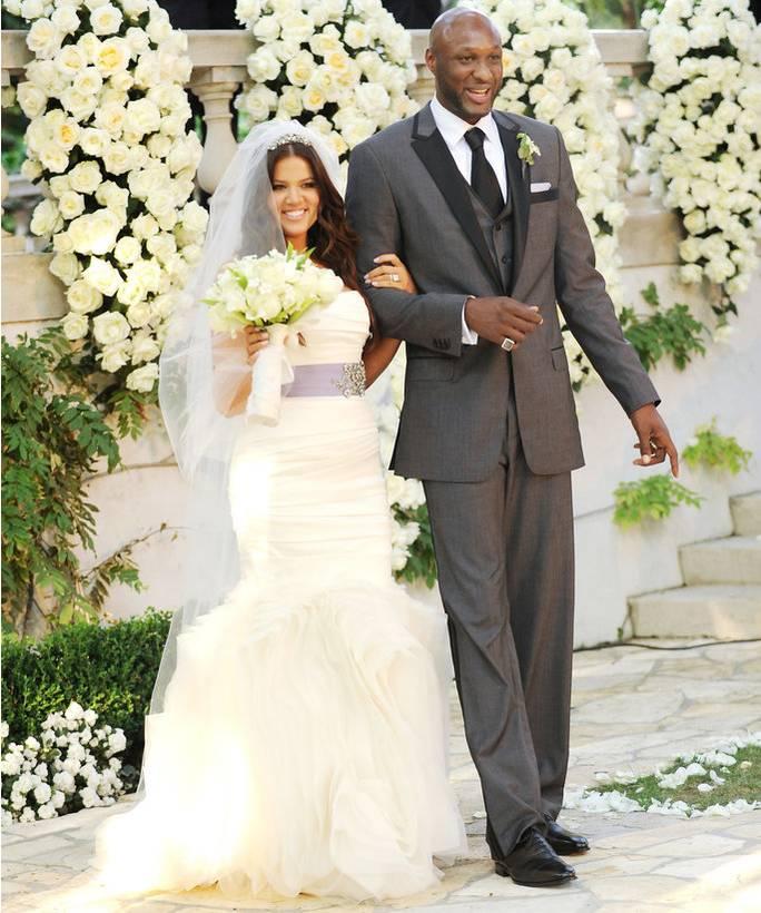 wedding dress - Khloe Kardashian