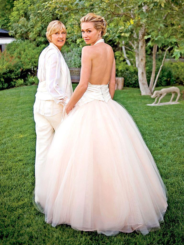 wedding dress - Portia de Rossi