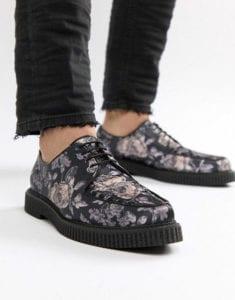 Asos Lace Up Mens Floral Shoes