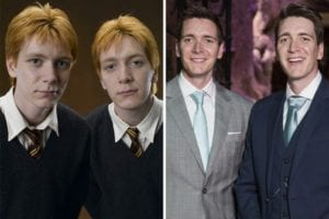 Harry Potter cast now Oliver and James Phelps