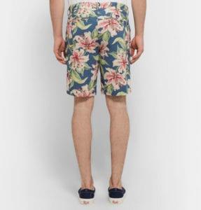 Mens floral fashion Fatherty slim-fit short