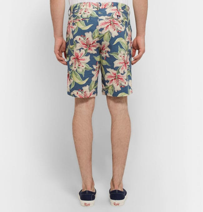 Mens floral fashion slim-fit short