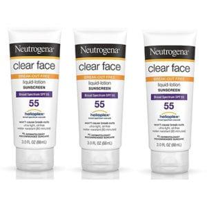 Best Sunscreen Neutrogena Clear Face Oily Skin